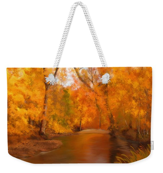 New England Autumn In The Woods Weekender Tote Bag
