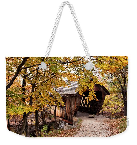 New England College No. 63 Covered Bridge  Weekender Tote Bag