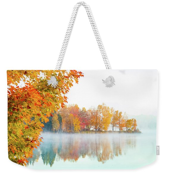 New England Fall Colors Of Maine Weekender Tote Bag