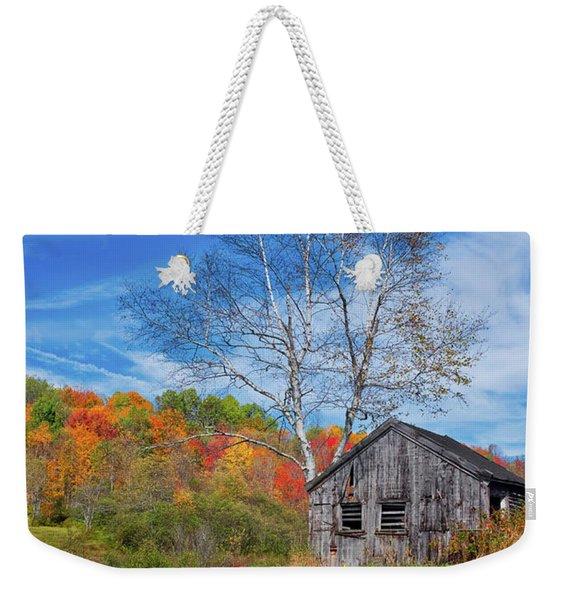 New England Fall Foliage Weekender Tote Bag