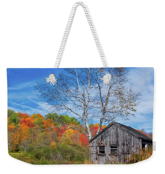 New England Fall Foliage Weekender Tote Bag