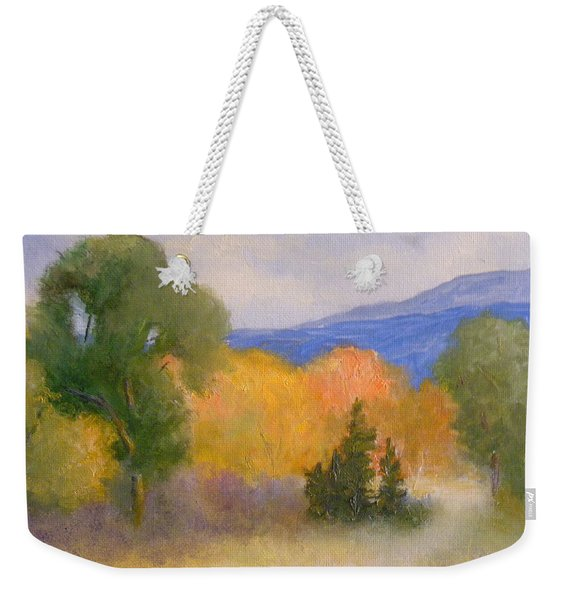 New England Fall Weekender Tote Bag