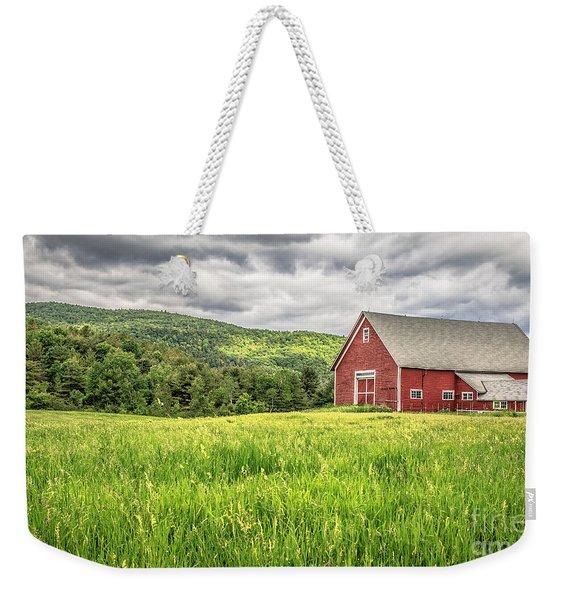 New England Farm Landscape Weekender Tote Bag