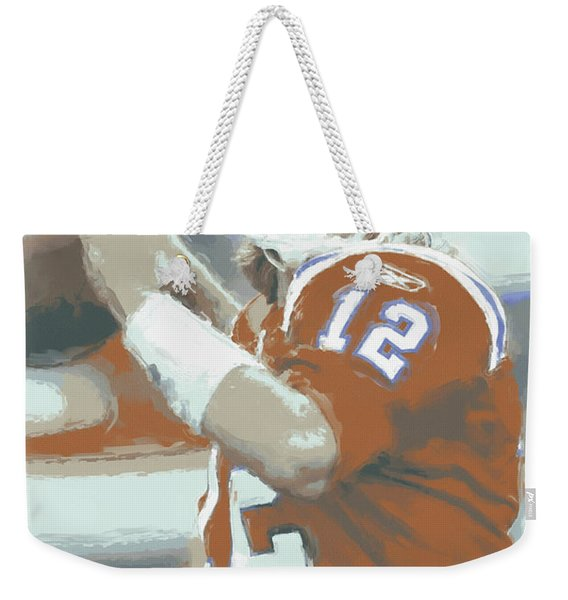 New England Patriots Tom Brady 2 Weekender Tote Bag