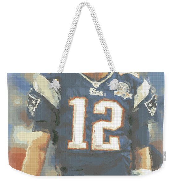 New England Patriots Tom Brady Weekender Tote Bag