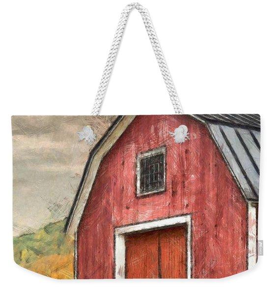 New England Red Barn Pencil Weekender Tote Bag