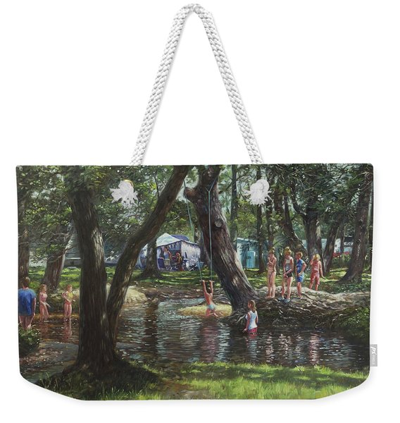 New Forest Camping Fun Weekender Tote Bag