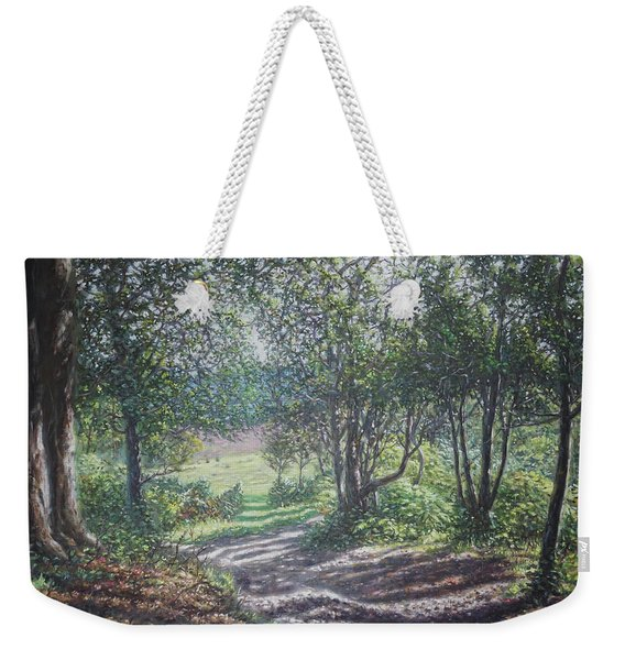 New Forest Path In Summer Evening Weekender Tote Bag