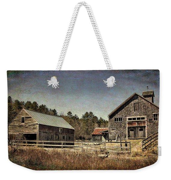 New Hampshire Old Barn  Weekender Tote Bag