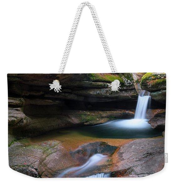 New Hampshire Sabbaday Falls Panorama Weekender Tote Bag
