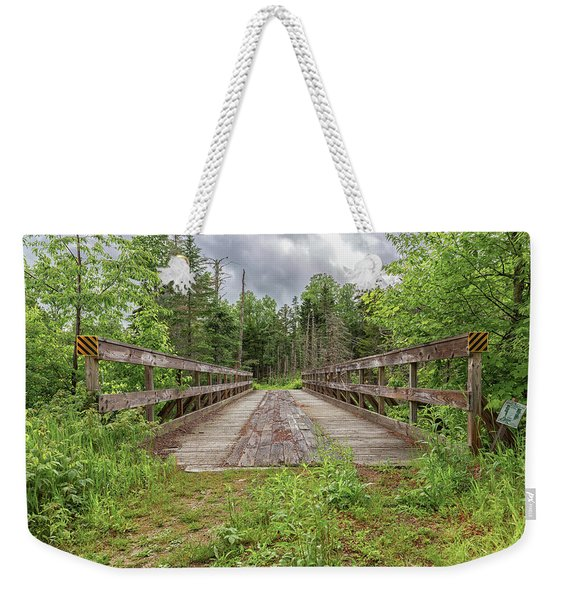 New Hampshire Snowmobile Trail Bridge Weekender Tote Bag