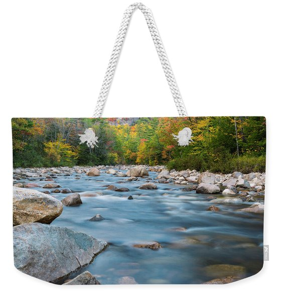 New Hampshire Swift River And Fall Foliage In Autumn Weekender Tote Bag