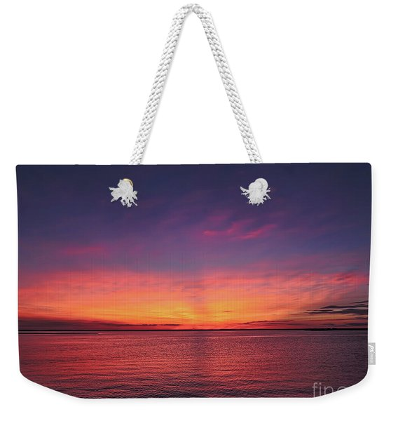 New Jersey Shore Sunset Weekender Tote Bag
