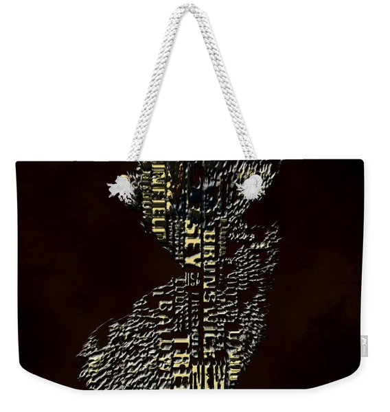 New Jersey Typographic Map 4h Weekender Tote Bag