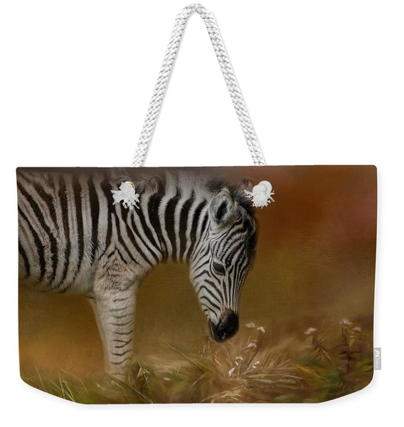 New Life Baby Zebra Wildlife Art By Jai Johnson Weekender Tote Bag