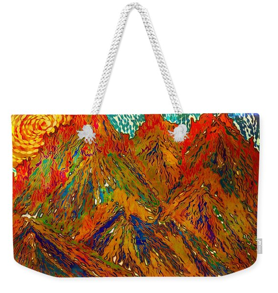 New Mexico Mountain Landscape Weekender Tote Bag