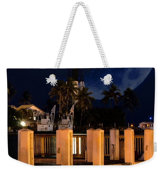 New Moon At Hillsboro Inlet Lighthouse Weekender Tote Bag