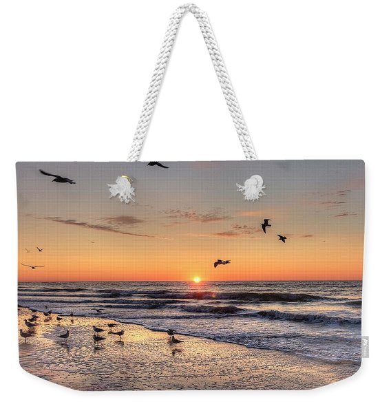 New Moon Birds Weekender Tote Bag