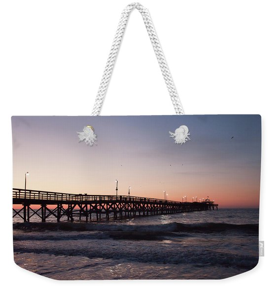 New Moon Pier Weekender Tote Bag