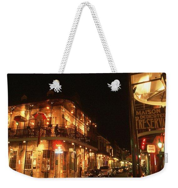 New Orleans Jazz Night Weekender Tote Bag