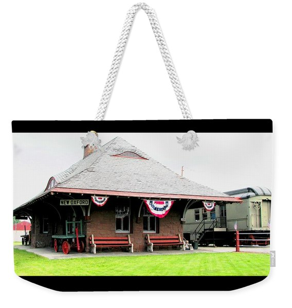 New Oxford Pennsylvania Train Station Weekender Tote Bag