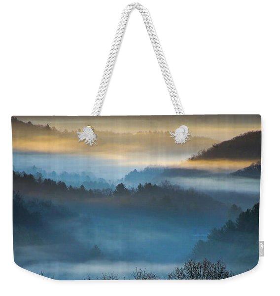 New River Fog Weekender Tote Bag