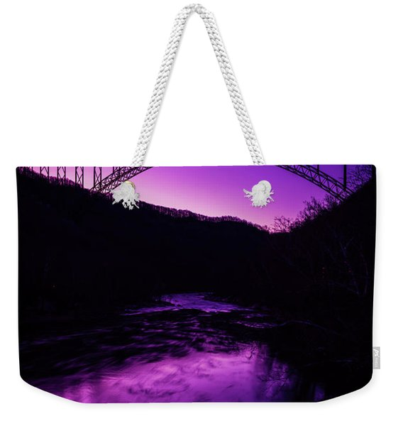 New River Gorge Bridge Afterglow Weekender Tote Bag