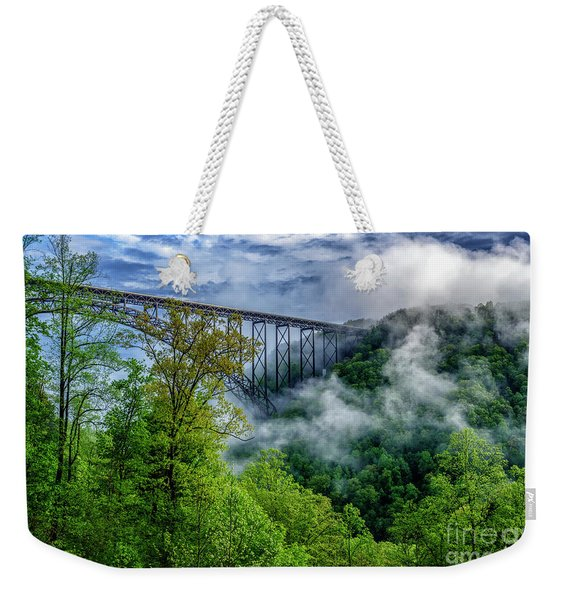 New River Gorge Bridge Morning  Weekender Tote Bag