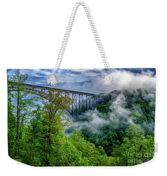 New River Gorge Bridge Morning  Weekender Tote Bag