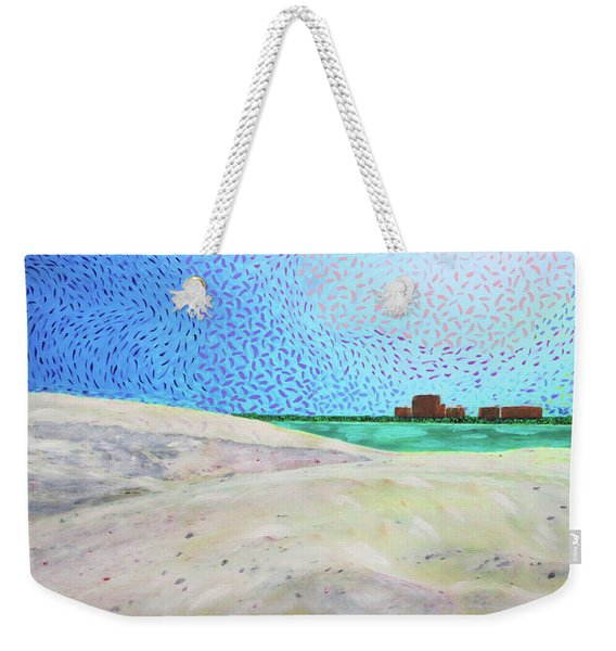 New Smyrna Beach As Seen From A Dune On Ponce Inlet Weekender Tote Bag