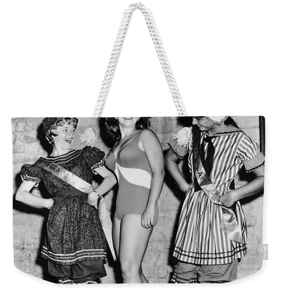 New Swimwear Meets Old Weekender Tote Bag