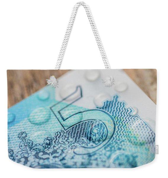 New Uk Five Pound Note Weekender Tote Bag