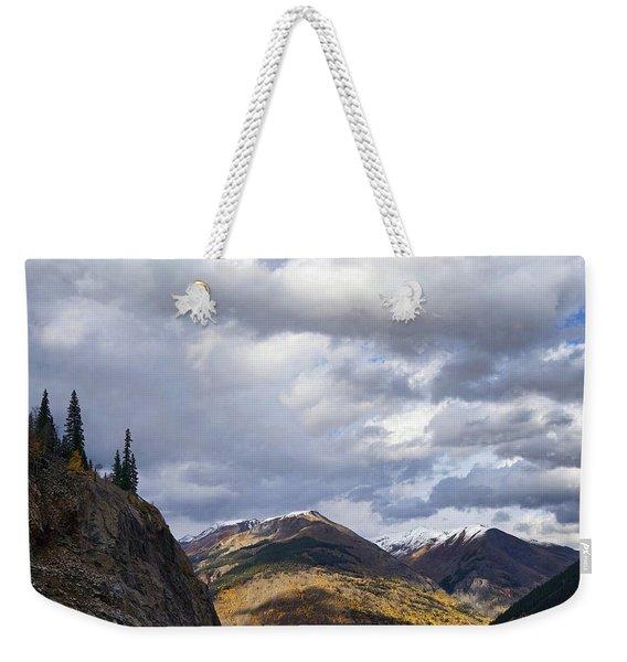 Peeking At The Peaks Weekender Tote Bag