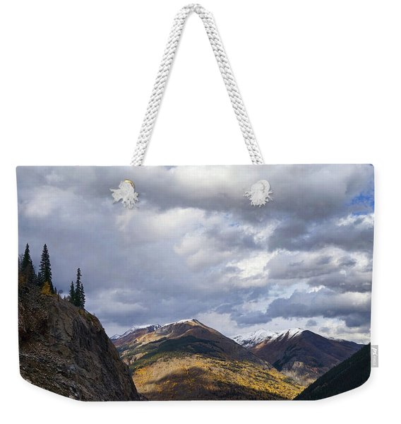 Peeking At The Peaks Weekender Tote Bag