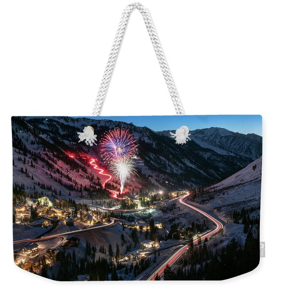 New Year's Eve At Snowbird Weekender Tote Bag