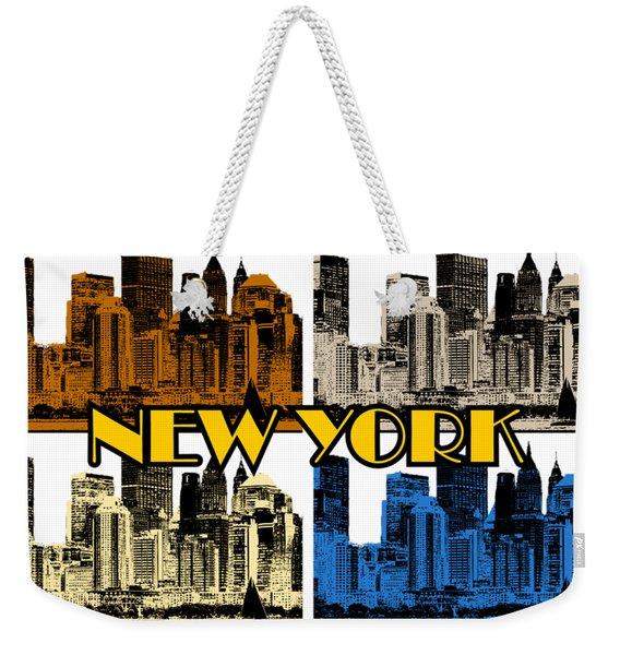 New York 4 Color Weekender Tote Bag
