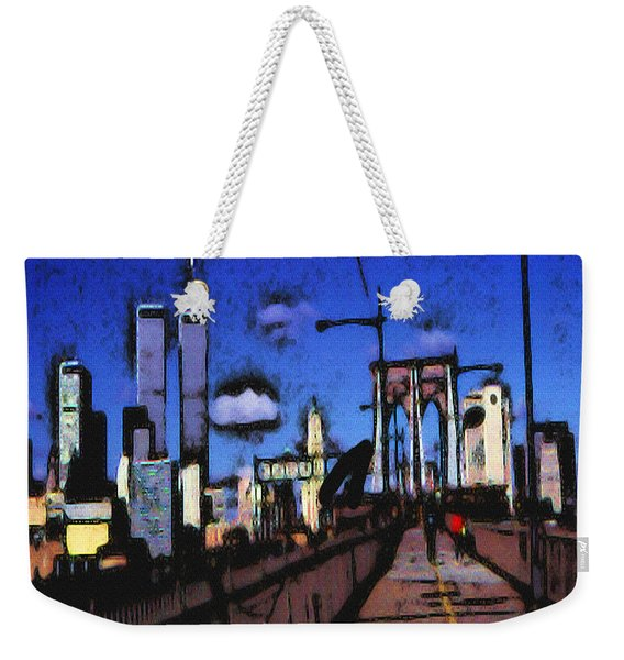 New York Blue - Modern Art Painting Weekender Tote Bag