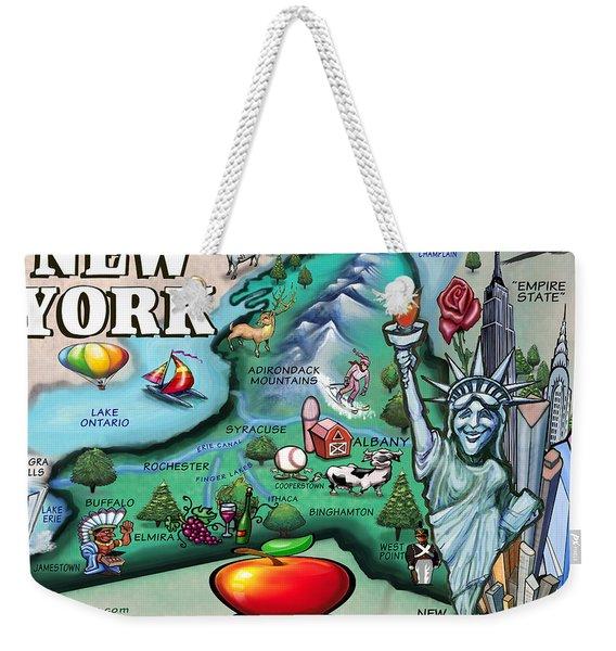 New York Cartoon Map Weekender Tote Bag