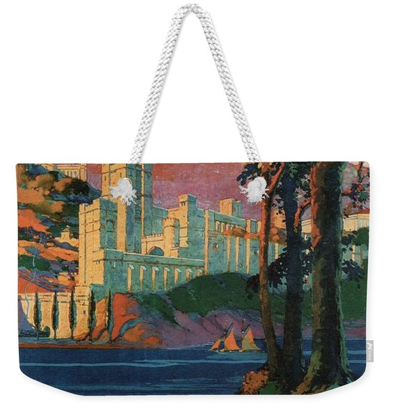 New York Central Lines - West Point - Retro Travel Poster - Vintage Poster Weekender Tote Bag