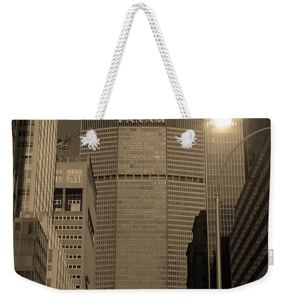 New York City 1982 Sepia Series - #7 Weekender Tote Bag