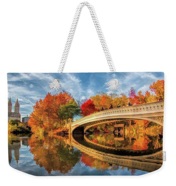 New York City Central Park Bow Bridge Weekender Tote Bag