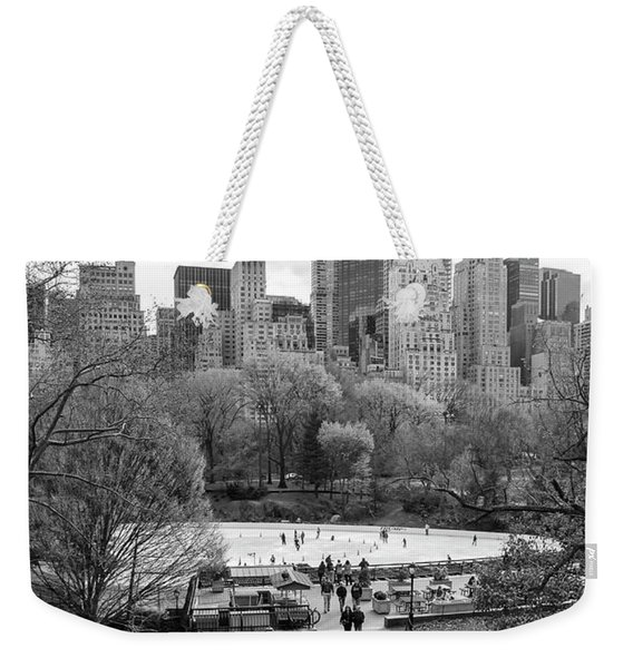 New York City Central Park Ice Skating Weekender Tote Bag