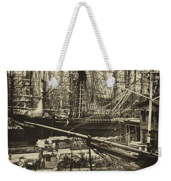 New York City Docks - 1800s Weekender Tote Bag