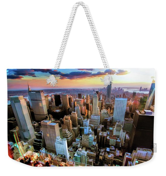 New York City Downtown Manhattan Weekender Tote Bag