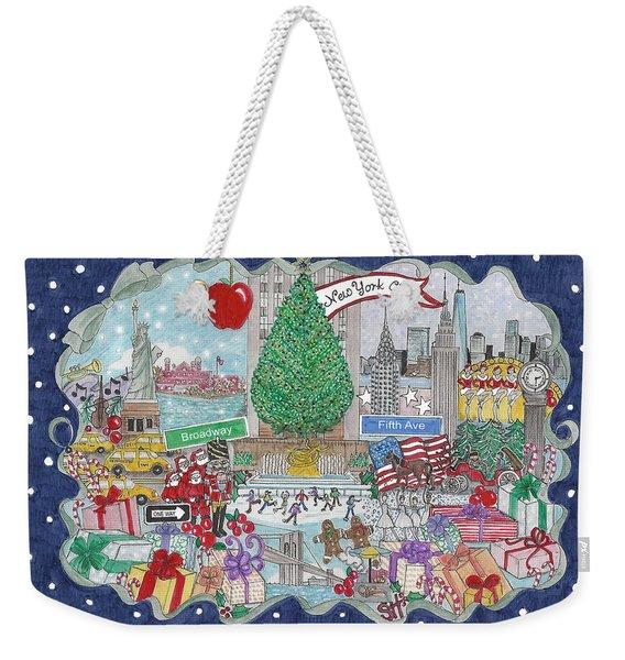 New York City Holiday Weekender Tote Bag