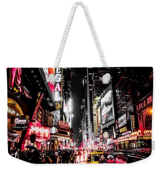 New York City Night II Weekender Tote Bag