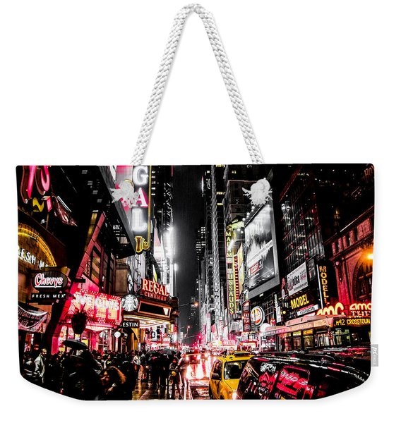 New York City Night II Weekender Tote Bag