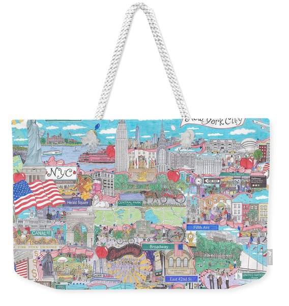 New York City On A Sunny Day Weekender Tote Bag