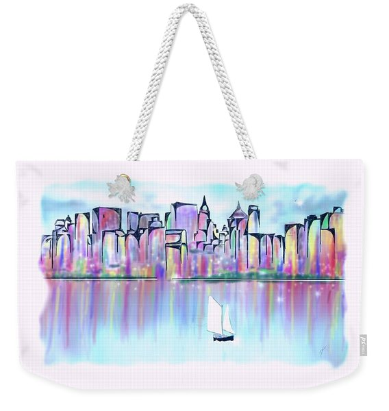 New York City Scape Weekender Tote Bag