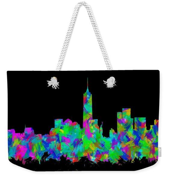 New York City Skyline Abstract Silhouette II Weekender Tote Bag